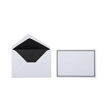 Trauer Briefumschläge Weiß mit Schwarzen Rand