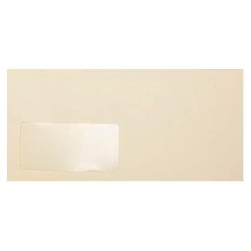 25 DIN lang Briefumschläge Zart Creme mit Fenster Kuvert 11 x 22 cm mit Haftstreifen, Grammatur 120 g/m²