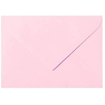 25 Briefumschläge B6 DIN (12,5 x 17,6 cm) Rosa Verschluss: Feuchtklebend mit Dreieck Lasche  ! Grammatur: 120 g/m²