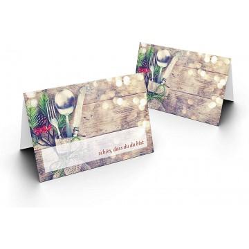 Tischkarten/Essbesteck/UV-Lack glänzend Format / 8,5 x 11,2 cm / 850 mm x 1120 mm