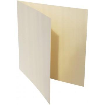 1-Quadratische Klappkarte zum selbst Beschriften in Zart Creme der Größe 160 x 160 mm 16 x 16 cm Grammatur: 300 g/m²