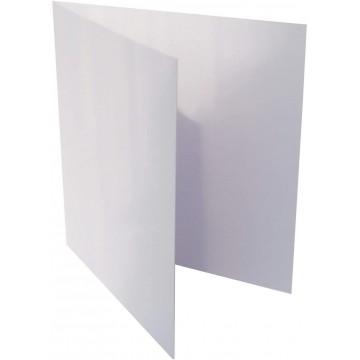1-Quadratische Klappkarte zum selbst Beschriften in Weiß der Größe 155 x 155 mm 15,5 x 15,5 cm Grammatur: 300 g/m²