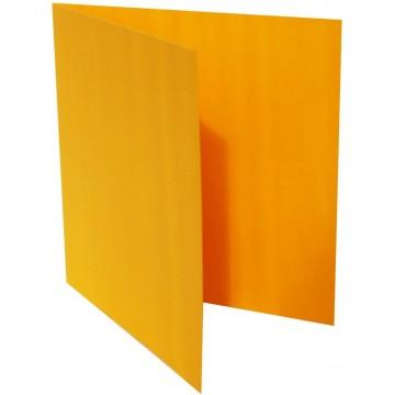 1-Quadratische Klappkarte zum selbst Beschriften in Orange der Größe 150 x 150 mm 15 x 15 cm Grammatur: 300 g/m²