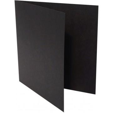 1-Quadratische Klappkarte zum selbst Beschriften in Schwarz der Größe 150 x 150 mm 15 x 15 cm Grammatur: 300 g/m²