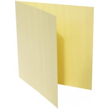 1-Quadratische Klappkarte zum selbst Beschriften in Hell Gelb der Größe 140 x 140 mm 14 x 14 cm Grammatur: 300 g/m²