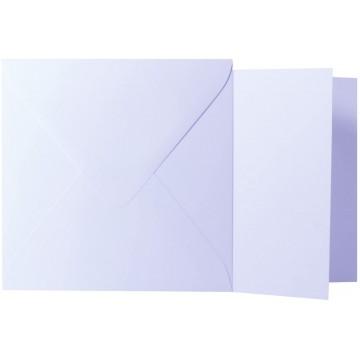 1 Briefumschlag Silber Metallic Größe 15,5 X 15,5 cm 120g + Klappkarte 300g Größe 15 X 15 cm,