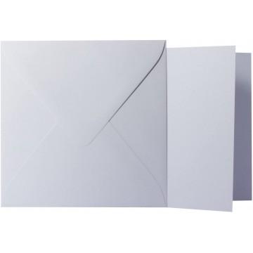 1 Briefumschlag Flieder Größe 15 X 15 cm 120g + Klappkarte 300g Größe 14,5 X 14,5 cm,