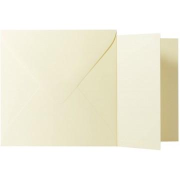 1 Briefumschlag Weiß Größe 10 X 10 cm 120g + Klappkarte 300g Größe 9,5 X 9,5 cm,
