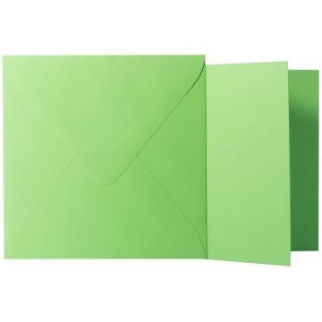 1 Briefumschlag Zart Creme Größe 10 X 10 cm 120g + Klappkarte 300g Größe 9,5 X 9,5 cm,