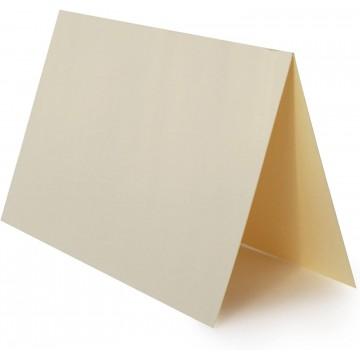 1 Tischkarte Weiß zum selbst Beschriften - Grammatur: 300 g/m² 10 x 6 cm