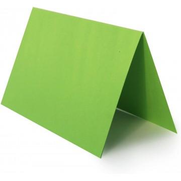 1 Tischkarte Zart Creme zum selbst Beschriften - Grammatur: 300 g/m² 10 x 6 cm