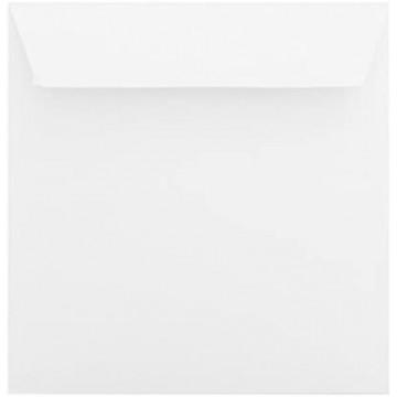 25 - Briefumschläge 160 x 160 Querlasche , Polar Weiß Verschluss: Kuverts mit Haftstreifen Grammatur: 100 g/m²