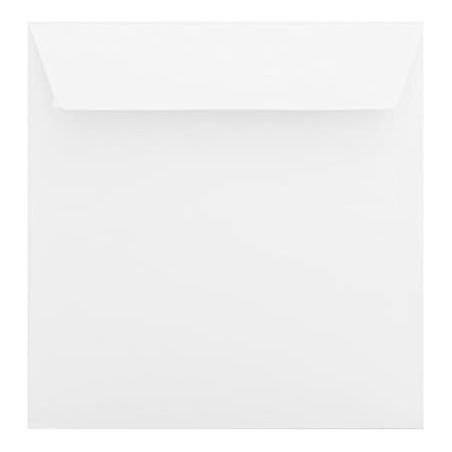 25 - Briefumschläge 160 x 160 Querlasche , Weiß Verschluss: Kuverts mit Haftstreifen Grammatur: 100 g/m²