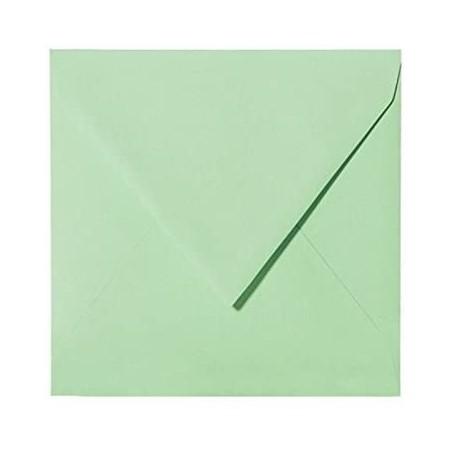 25 Briefumschläge 15 x 15 cm 150 x 150 mm Minze Verschluss: feuchtklebend Grammatur: 120 g/m²