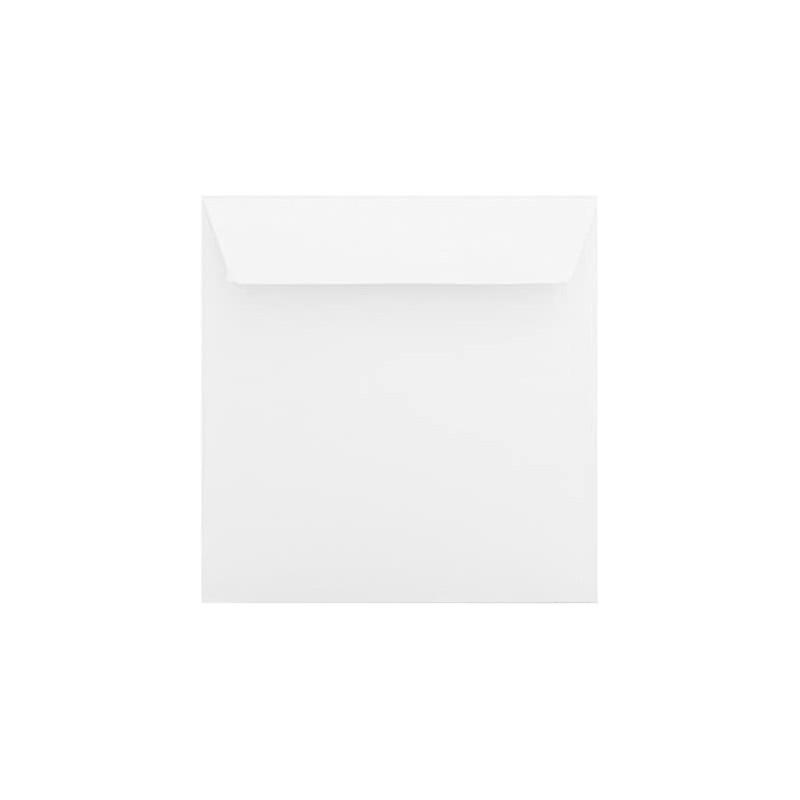 25 Briefumschläge 15,5 x 15,5 cm 155 x 155 mm Weiß Verschluss: Kuverts mit Haftstreifen Grammatur: 120 g/m²