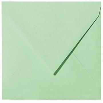 25 Briefumschläge 14 x 14 cm 140 x 140 mm  Minze Verschluss: feuchtklebend Grammatur: 120 g/m²