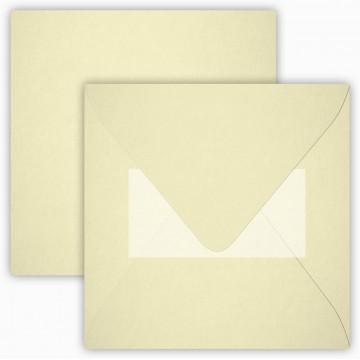 25 Neue Briefumschläge 15 x 15 cm 150 x 150 mmZart Creme Verschluss: mit Haftklebeverschluss Grammatur: 120 g/m²