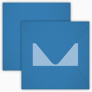 25 Neue Briefumschläge 15 x 15 cm 150 x 150 mm Ozean Blau Verschluss: mit Haftklebeverschluss Grammatur: 120 g/m²