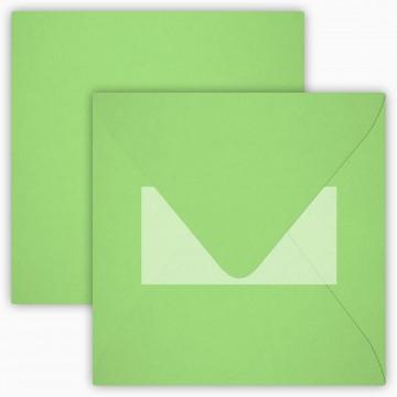 25 Neue Briefumschläge 15 x 15 cm 150 x 150 mm Hell Grün Verschluss: mit Haftklebeverschluss Grammatur: 120 g/m²