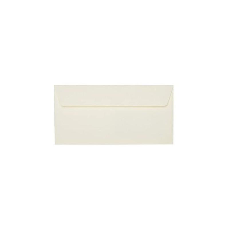 25 DIN lang Briefumschläge Hell Gelb Kuvert 11 x 22 cm mit Haftstreifen, Grammatur 120 g/m²