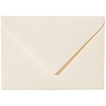 25 Briefumschläge B6 DIN (12,5 x 17,6 cm) Zart Creme  Verschluss-: Feuchtklebend mit Dreieck Lasche  ! Grammatur: 120 g/m²